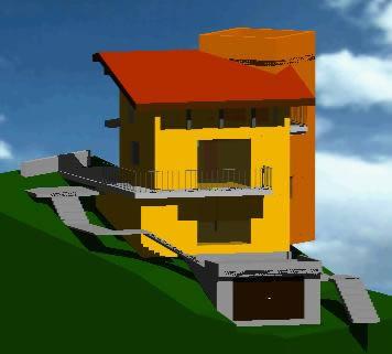 Planos de Casa con torreta 3d, en Vivienda unifamiliar 3d – Proyectos