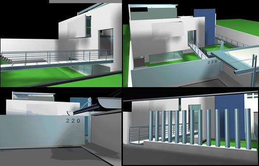 Casa contemporanea, en Vivienda unifamiliar 3d – Proyectos