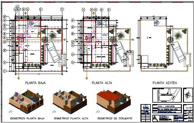 Planos de Casa de 2 niveles, en Vivienda unifamiliar – Proyectos