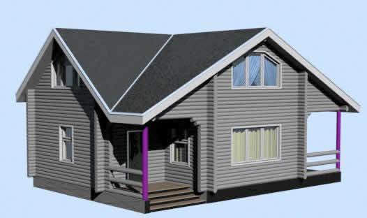 Casa  de campo 2  3d, en Vivienda unifamiliar 3d – Proyectos