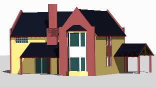 Planos de Casa de campo  3d, en Vivienda unifamiliar 3d – Proyectos