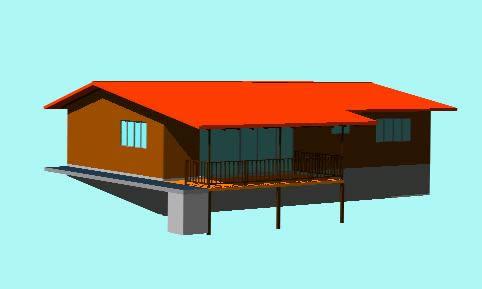 Planos de Casa de campo en 3d, en Vivienda unifamiliar 3d – Proyectos