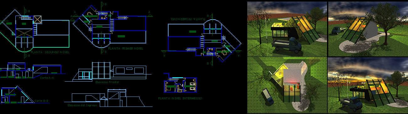 imagen Casa de campo, en Vivienda unifamiliar 3d - Proyectos
