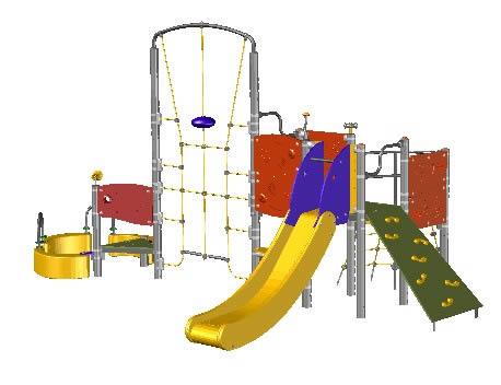 Planos de Casa de juegos infantil parque, en Juegos infantiles – Equipamiento urbano