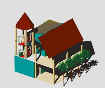 Planos de Casa de playa 3d, en Vivienda unifamiliar 3d – Proyectos