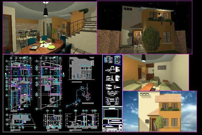 Planos de Casa dos pisos tipo residencial, en Vivienda unifamiliar – Proyectos