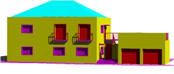 Planos de Casa dupla 3d – vivienda en dos plantas, en Vivienda unifamiliar 3d – Proyectos