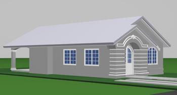 Casa económica 3d, en Vivienda unifamiliar 3d – Proyectos