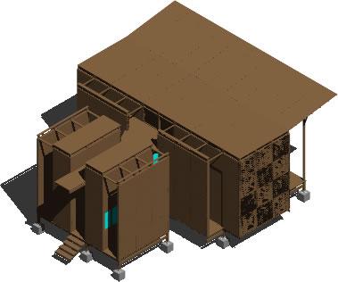 Planos de Casa en 3d de madera, en Vivienda unifamiliar 3d – Proyectos