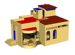 Planos de Casa en 3d, en Vivienda unifamiliar 3d – Proyectos