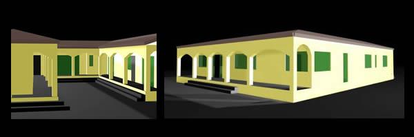 Casa  en uxmal 3d, en Vivienda unifamiliar 3d – Proyectos