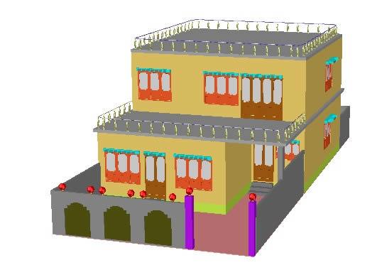 imagen Casa, en Vivienda unifamiliar 3d - Proyectos