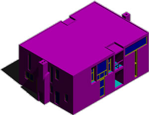 Planos de Casa esherick en 3d de kahn, en Obras famosas – Proyectos