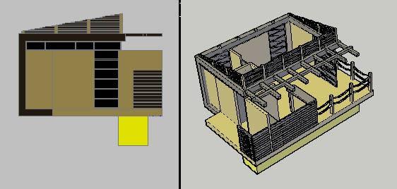 imagen Casa flotante 3d, en Turismo y recreación - Proyectos
