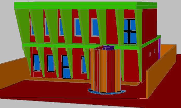 imagen Casa habitacion 3d, en Vivienda unifamiliar - Proyectos