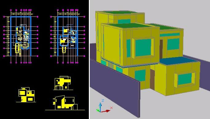 imagen Casa habitacion; dos niveles;, en Vivienda unifamiliar - Proyectos