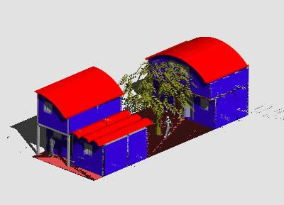 Planos de Casa habitación, en Vivienda unifamiliar 3d – Proyectos