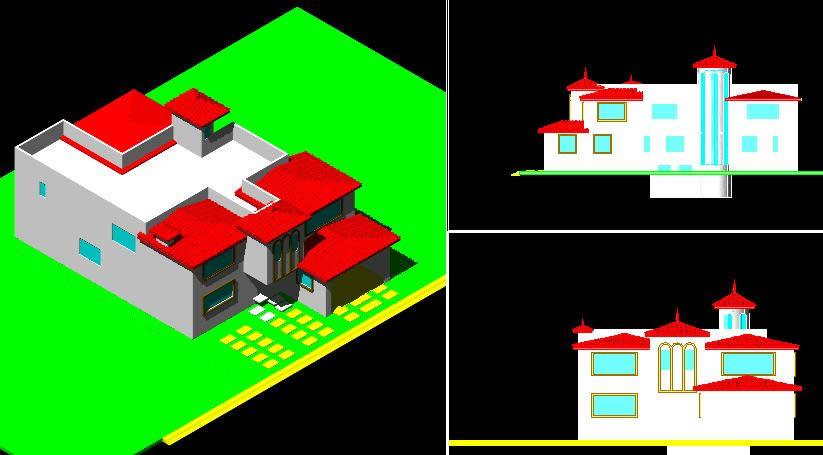 Planos de Casa habitacion, en Vivienda unifamiliar 3d – Proyectos