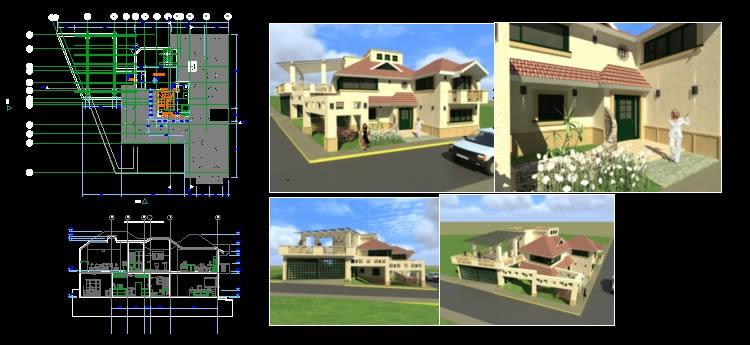 Planos de Casa – habitación, en Vivienda unifamiliar – Proyectos