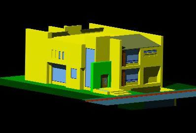 Planos de Casa habitacion residencial, en Vivienda unifamiliar 3d – Proyectos