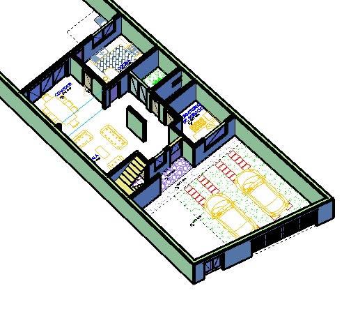 Planos de Casa habitacional de un piso, en Vivienda unifamiliar 3d – Proyectos