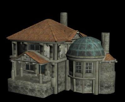 Casa medieval 3d, en Residencias y palacetes – Historia