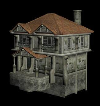 Planos de Casa medieval  3d, en Residencias y palacetes – Historia