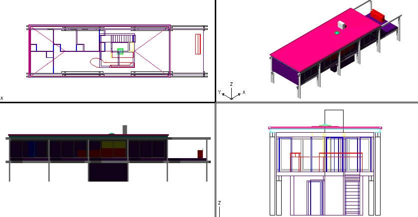 Planos de Casa middelboe; de jorn utzon, en Obras famosas – Proyectos