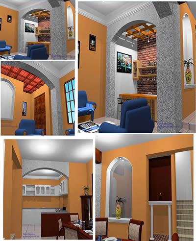 Casa primer nivel distribucion en 3d, en Vivienda unifamiliar 3d – Proyectos