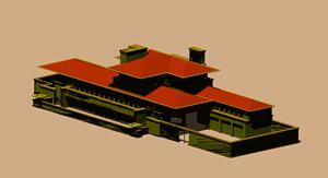 Planos de Casa robie 3d, en Obras famosas – Proyectos