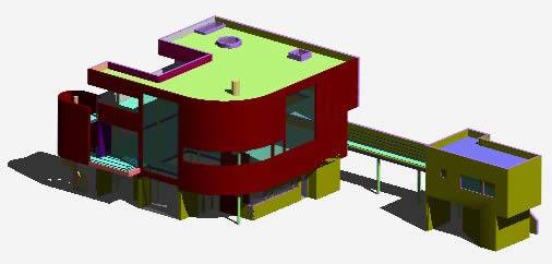 Planos de Casa saltzman——richard mier, en Obras famosas – Proyectos