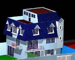 Planos de Casa suburbana 3d, en Vivienda unifamiliar 3d – Proyectos