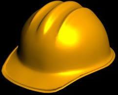 Casco de obra 3d, en Seguridad en obras – Obradores