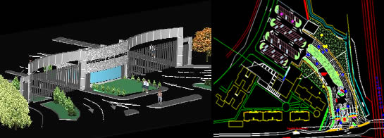 Planos de Caseta de vigilancia 3d, en Accesos – Proyectos