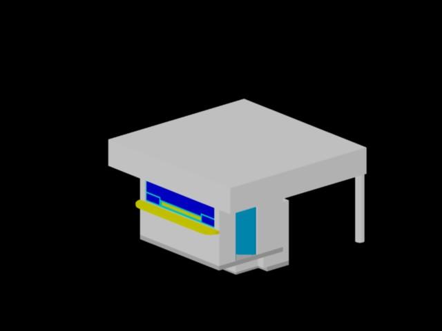Planos de Caseta de vigilancia 3d, en Instalaciones varias – Instalaciones