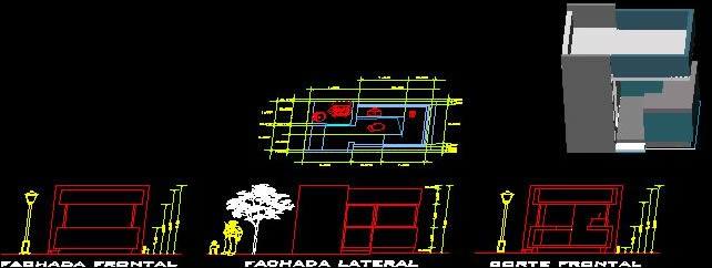 Planos de Caseta de vigilancia, en Accesos – Proyectos