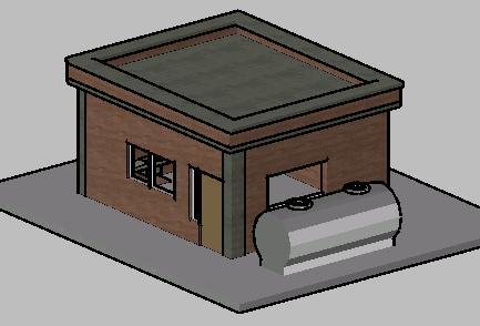 Planos de Caseta maquinas planta, en Red provisión de agua – Infraestructura