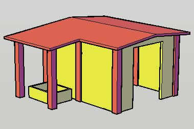 Planos de Caseta planta de emergencia, en Accesos – Proyectos
