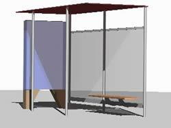 Planos de Casilla de espera de colectivos – parador, en Transferencia peatón – vehículo paradores – Equipamiento urbano