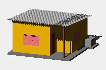 Planos de Casita economica rural, en Vivienda unifamiliar 3d – Proyectos