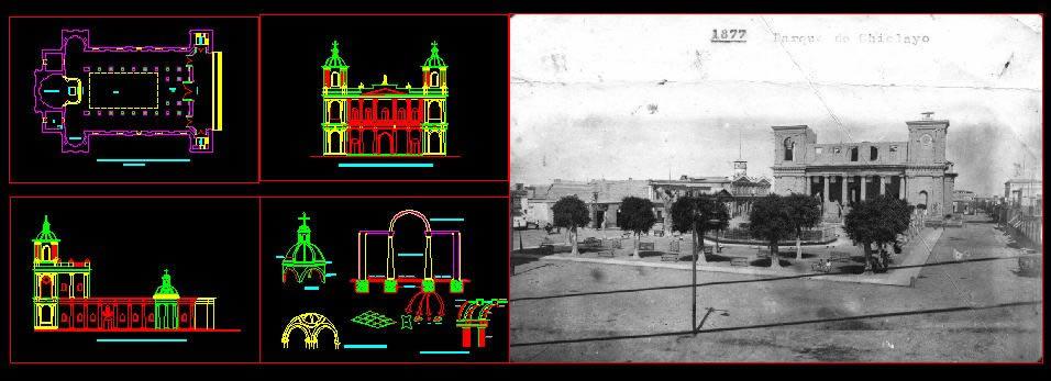 Planos de Catedral ciudad de chiclayo, en Iglesias y templos – Historia
