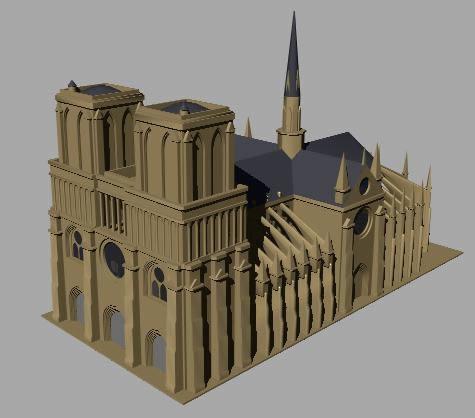 imagen Catedral de notre-dame en 3d, en Obras famosas - Proyectos