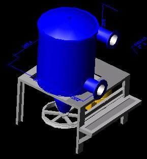 Planos de Cedazo pulpa 3d., en Maquinaria para industria de la alimentación – Máquinas instalaciones