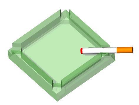 Planos de Cenicero 3d, en Objetos varios – Muebles equipamiento