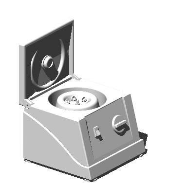 Planos de Centrifuga de laboratorio 3d, en Equipamiento – Hospitales