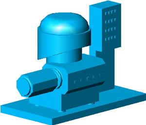 Planos de Centrífuga vertical 3d, en Maquinaria para industria de la alimentación – Máquinas instalaciones