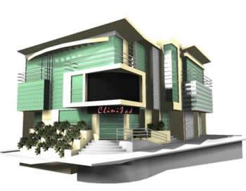 Planos de Clinica 3d, en Proyectos – Hospitales