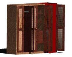 Planos de Closet 3d, en Dormitorios – Muebles equipamiento