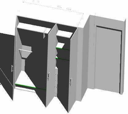 Planos de Closets para departamentos, en Placards – guardarropas – Aberturas
