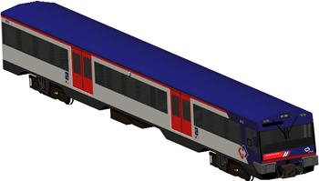 Planos de Coche motor con cabina para conduccion, en Ferrocarriles – Medios de transporte